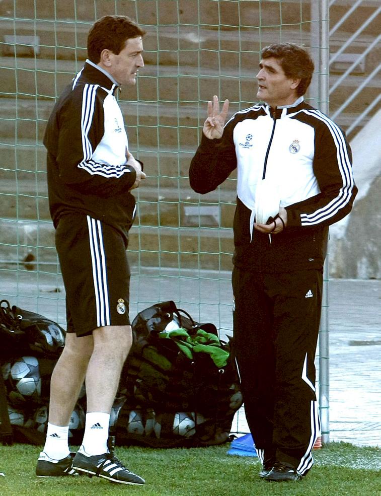 Jaro, con Juande Ramos en el Real Madrid (Archivo 20minutos).