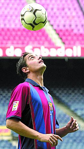 Coco, el día de su presentación con el Barça (Archivo 20Minutos)