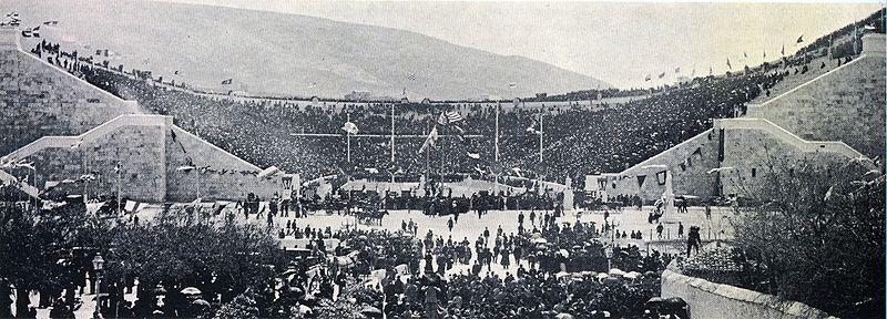 El Panathinaikó, en la inauguración de los Juegos de 1896 (WIKIPEDIA)