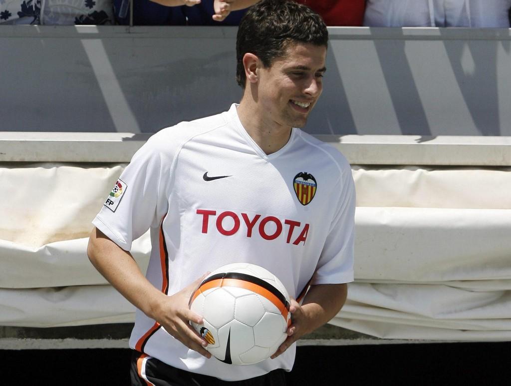 Del Horno, el día de su presentación con el Valencia, en 2006 (Archivo 20Minutos).