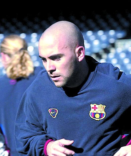 De la Peña, entrenando con el Barça (Archivo 20Minutos).