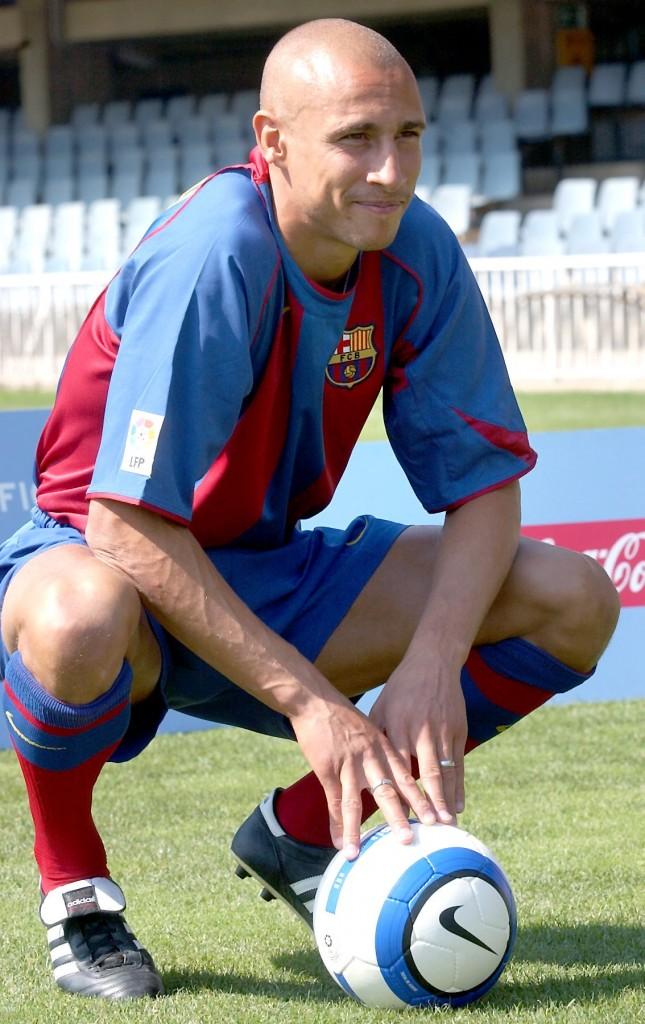 Henrik Larsson, el día de su presentación con el Barça, en 2004 (ARCHIVO 20Minutos)