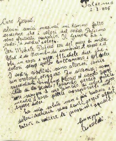 La famosa carta de Giuseppe Airoldi a Joseph Whitaker (WIKIPEDIA).