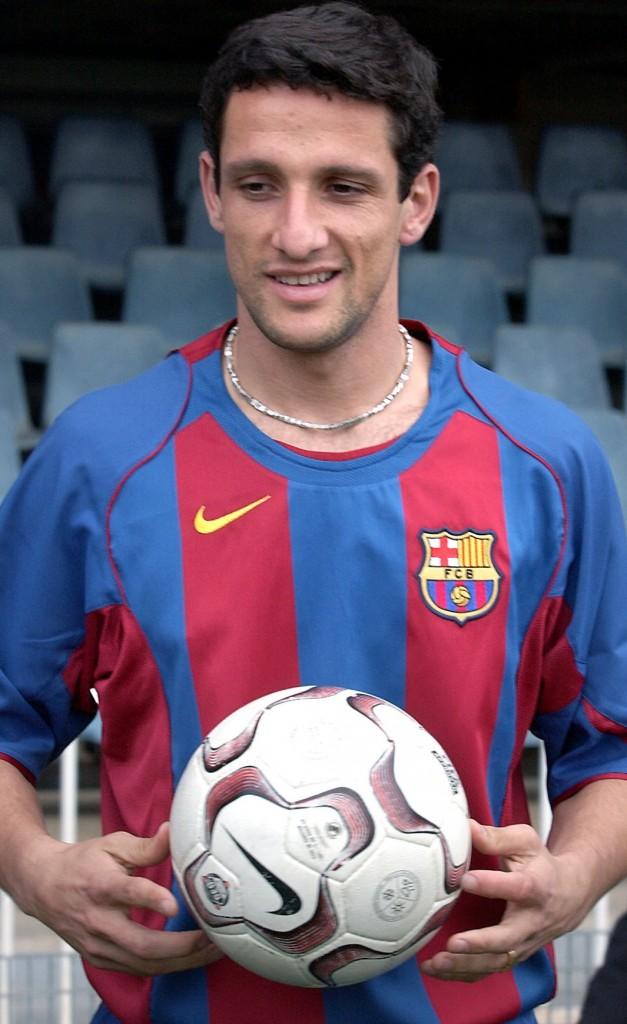 Belletti, en su presentación con el Barça en 2004 (Archivo 20minutos)