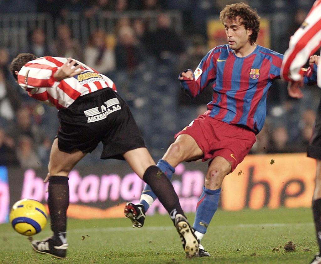 Ezquerro, con el Barça en un partido de Copa en 2006.