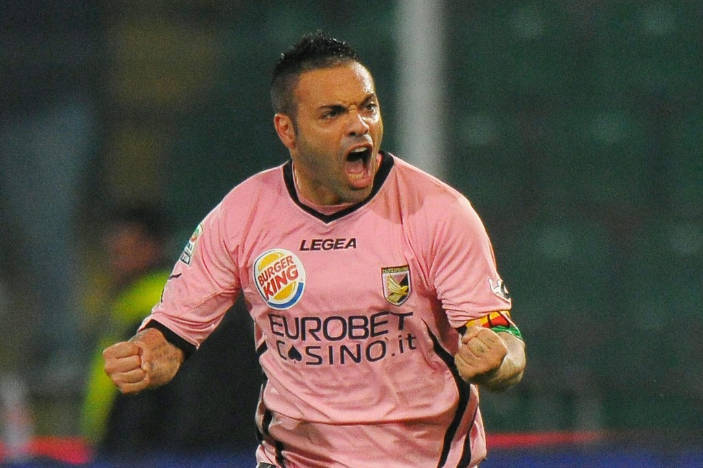Fabrizio Miccoli, jugador del Palermo en el año 2012 (Archivo 20minutos).