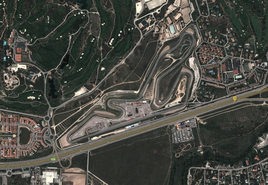 Imagen vía satélite del circuito del Jarama (Google Maps).
