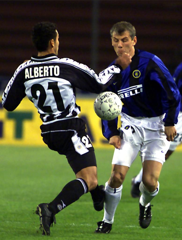 Jugovic, con el Inter en un partido de la Serie A italiana del año 2000 (Archivo 20minutos).