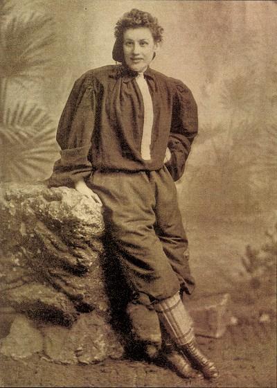 Nettie Honeyball, en una foto de la época (WIKIPEDIA).