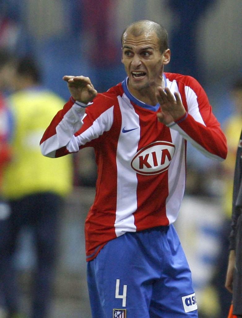 Pernía, en un partido con el Atleti de la temporada 2007/2008 (Archivo 20minutos).