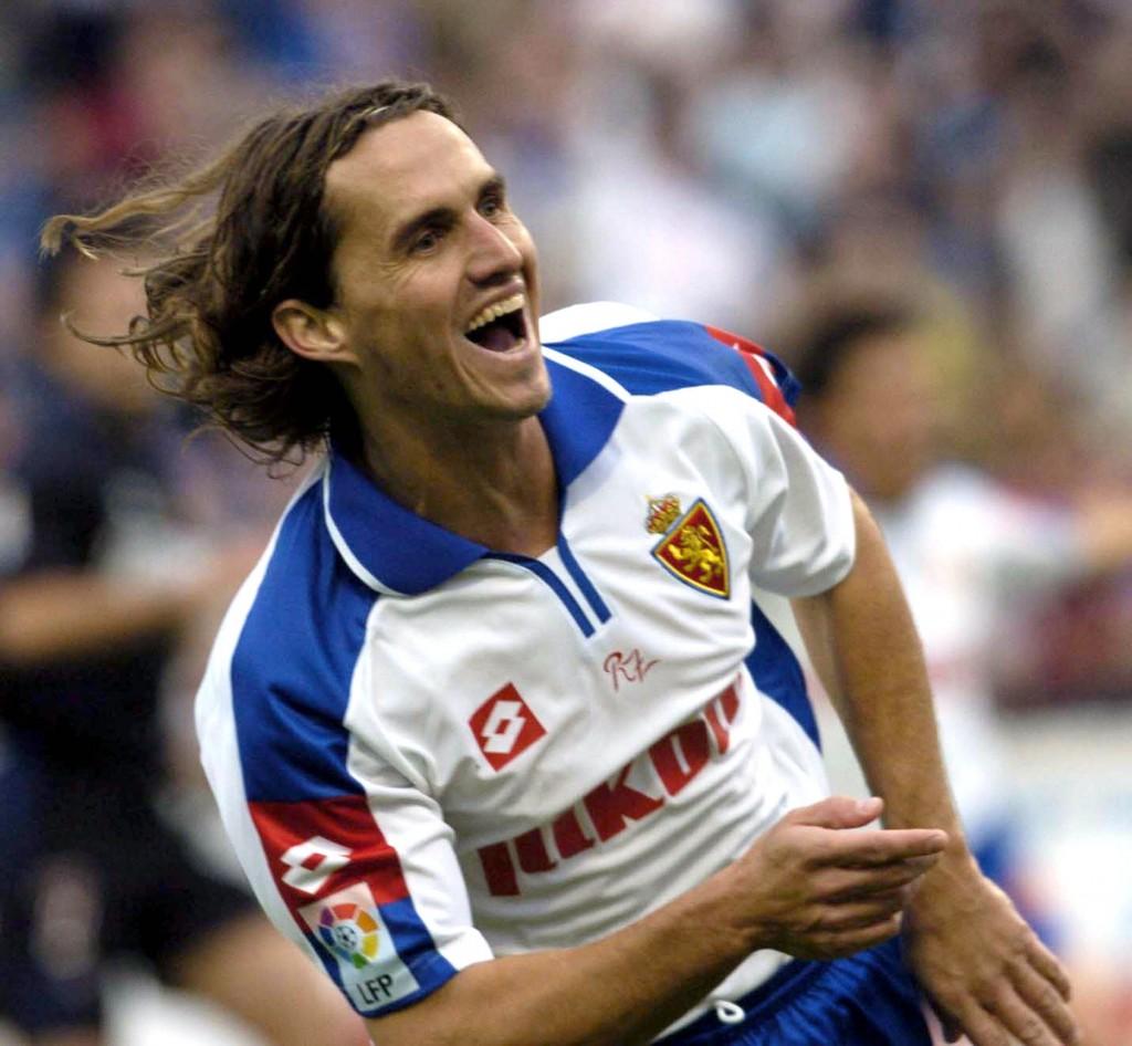 Sávio, celebrando un gol en La Romareda con el Zaragoza en 2004 (Archivo 20minutos).