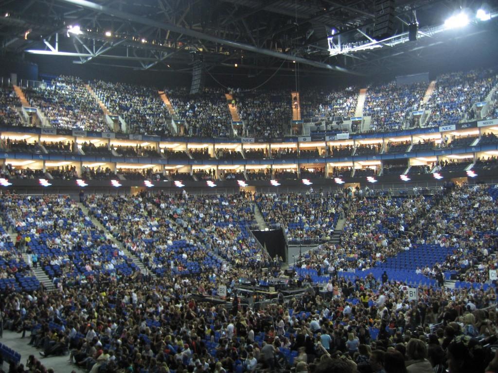 El O2 Arena, momentos antes de un concierto (WIKIPEDIA).