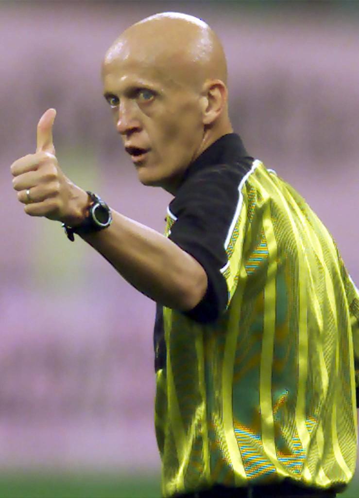 Pierluigi Collina, en un partido de la Liga italiana (Archivo 20minutos).