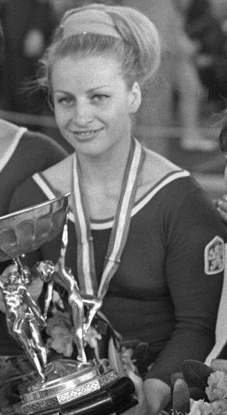 Caslavska, en 1967 (WIKIPEDIA).