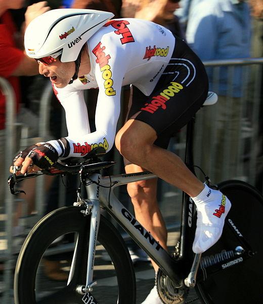 Hincapie, en el prólogo del Tour de California de 2008 (WIKIPEDIA).