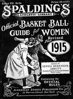 Portada de la edición de 1915 de la Guía Oficial de Baloncesto para Mujeres, de Senda Berenson (WIKIPEDIA).