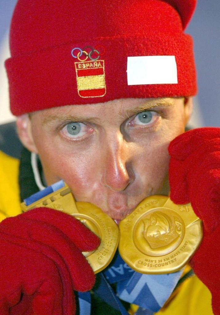 Muehlegg, con sus medallas de oro en Salt Lake City (ARCHIVO 20minutos)