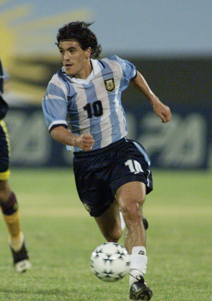 Ariel Ortega, con su selección (Archivo 20minutos).
