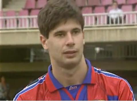 Goran Vucevic, con el uniforme del FC Barcelona (YOUTUBE).
