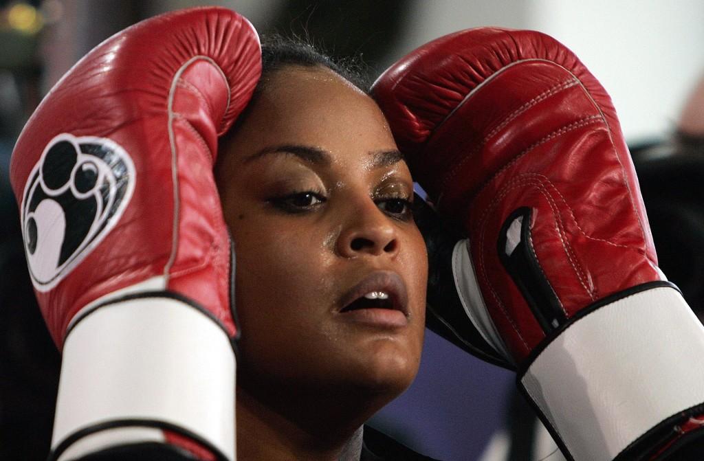 Laila Ali, tras un entrenamiento en Alemania en 2005 (Archivo 20minutos).