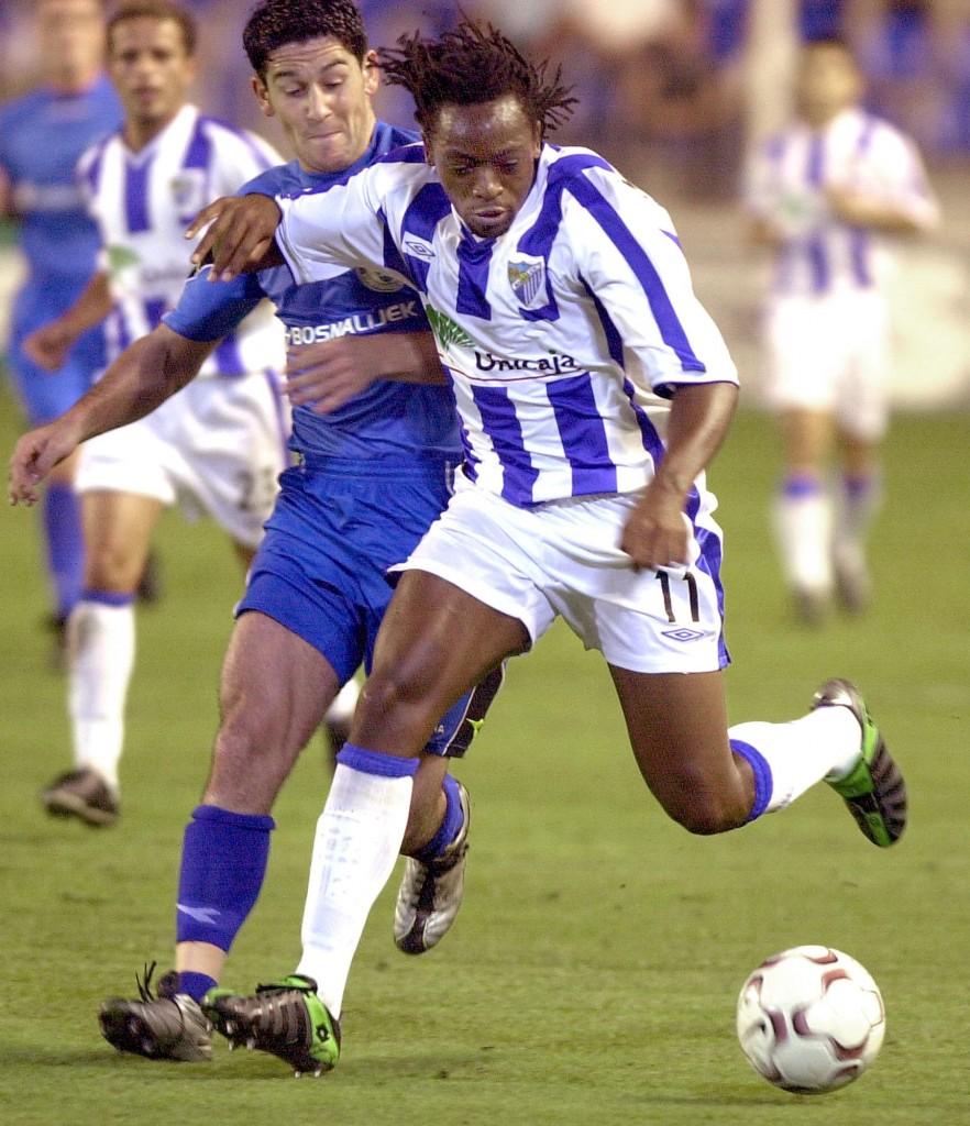 Musampa, en un partido de la UEFA con el Málaga en 2002 (ARCHIVO 20MINUTOS).