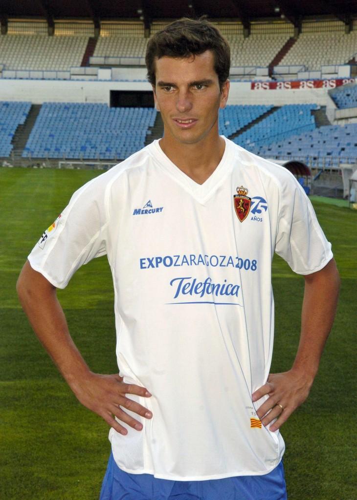 Pavón, el día de su presentación con el Zaragoza, en julio de 2007 (Archivo 20minutos).