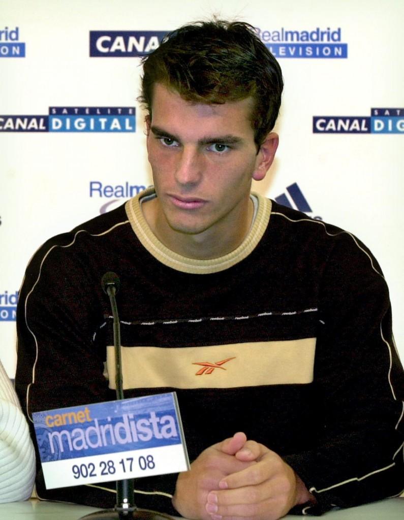 Pavón, en una rueda de prensa del Madrid en 2001 (Archivo 20minutos).