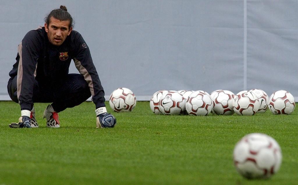 Rüstü. en un entrenamiento del Barça en abril de 2004 (ARCHIVO 20MINUTOS).