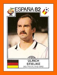 Cromo de Stielike para el Mundial de 1982 (PANINI).