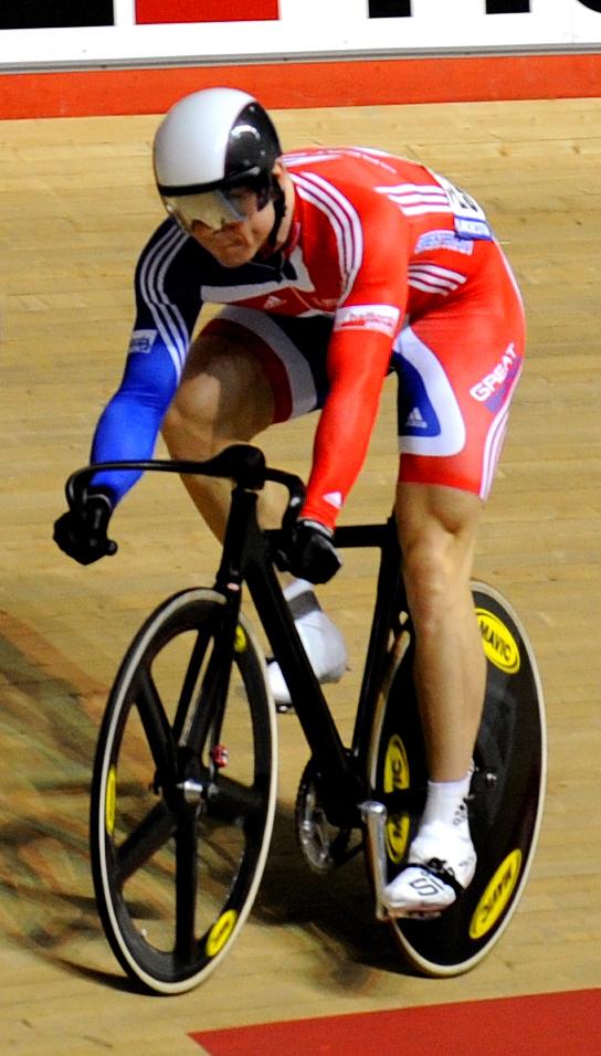 Chris Hoy, en el Mundial de 2008 (WIKIPEDIA).