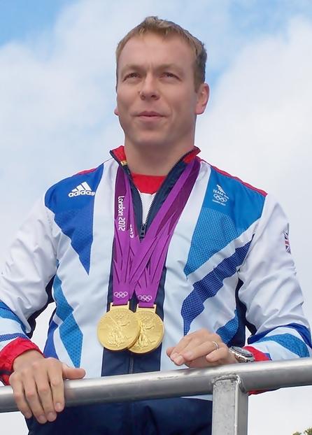 Sir Chris Hoy, en el homenaje a los campeones británicos de los Juegos de 2012 (WIKIPEDIA).