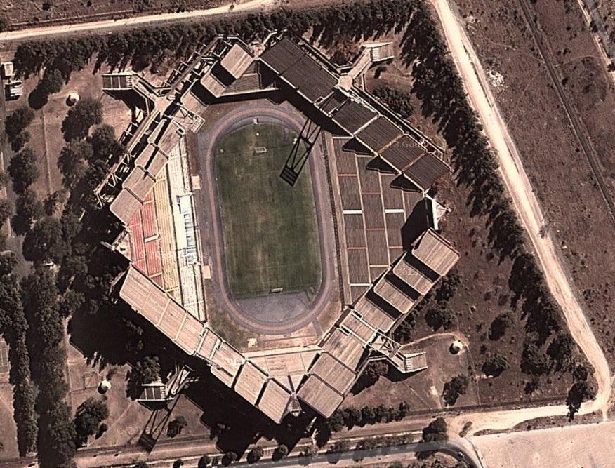 Vista aérea del estadio (Google Maps).