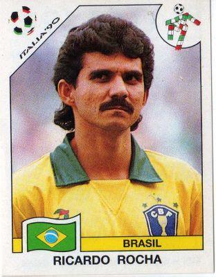 Ricardo Rocha, en un cromo del Mundial de Italia 90 (PANINI).