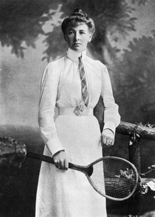 Charlotte Cooper, a principios de siglo (WIKIPEDIA).