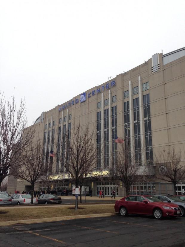 Exterior del United Center (WIKIPEDIA).