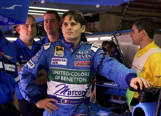 Fisichella, durante el GP de España de 2000 (Archivo 20minutos).