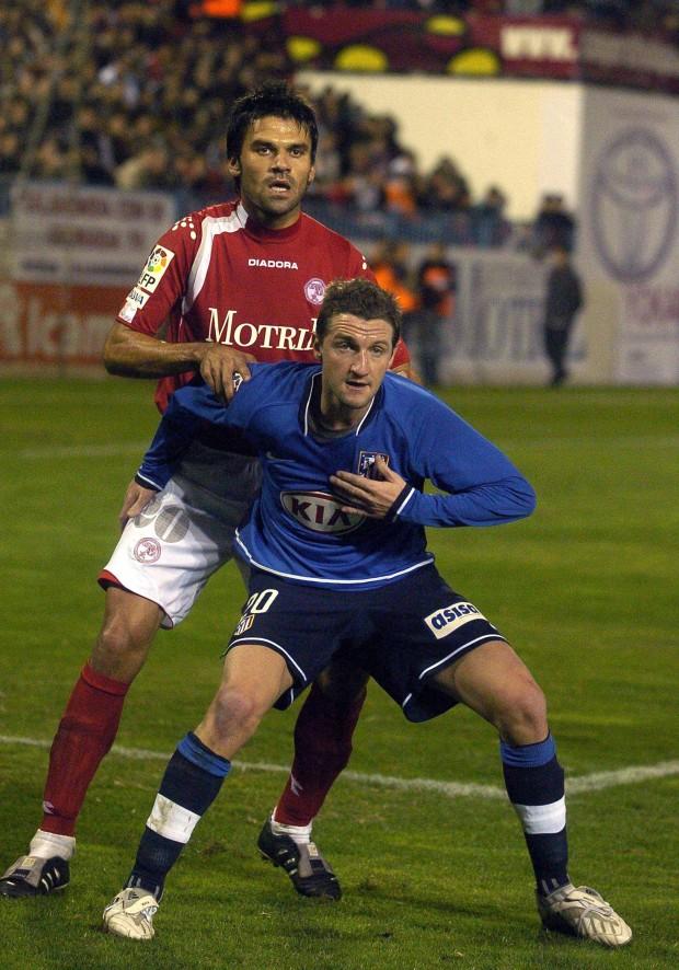 Mista, con la camiseta del Atleti en un partido de Copa del Rey ante el extinto Granada 74 en el año 2007 (Archivo 20minutos).