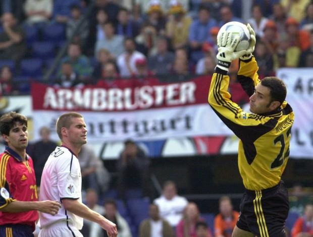 Molina, ante Noruega en la Eurocopa de 2000 en Rotterdam (Archivo 20Minutos).