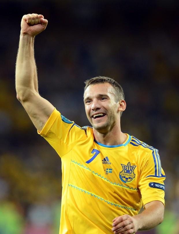 Shevchenko, celebrando un gol con su selección en la última Eurocopa (Archivo 20minutos).