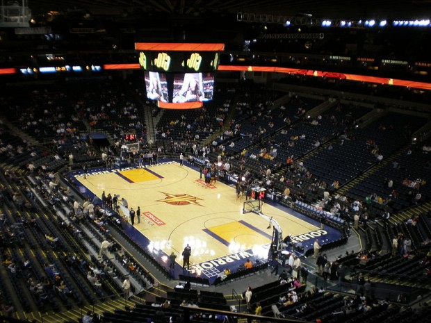 Vista interior del Oracle Arena (WIKIPEDIA).