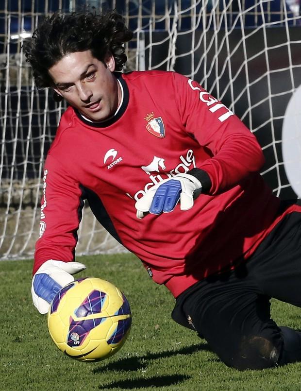 Ricardo, entrenando con Osasuna (Archivo 20Minutos).