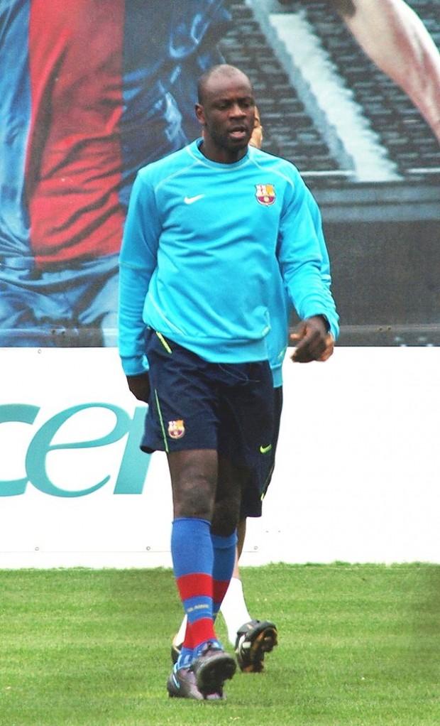 Thuram, en un entrenamiento con el Barça (ARCHIVO 20MINUTOS)