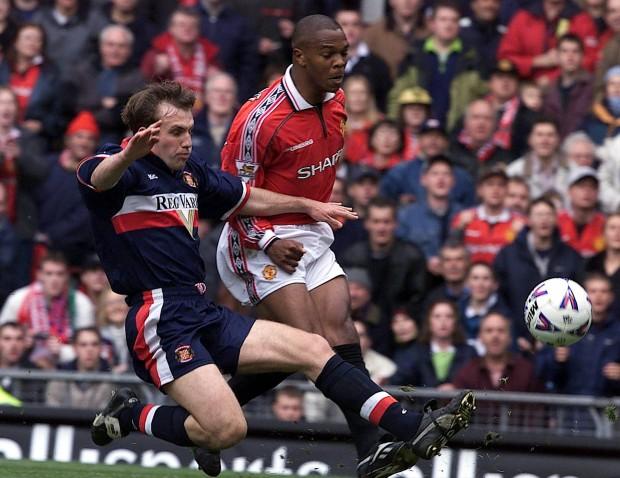 Fortune, en un partido del United de Premier en el año 2000 (Archivo 20minutos).
