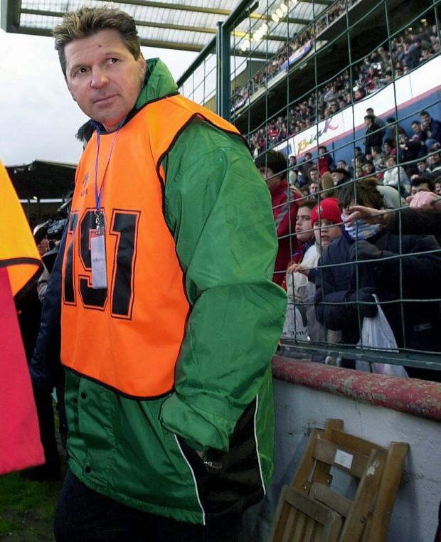 Piterman, acreditado como fotógrafo para un Osasuna-Racing de la temporada 2002/2003 (Archivo 20minutos).