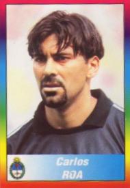 Roa, en un cromo del Mundial del 98 (PANINI).