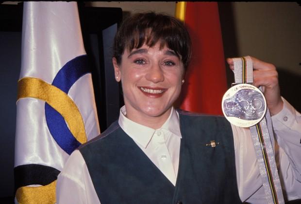 Blanca Fernández-Ochoa, con su medalla de bronce de Albertville (GTRES).