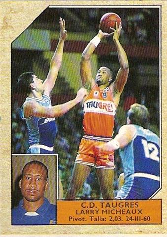 Cromo de Micheaux en su época en el TauGrés (ACB).