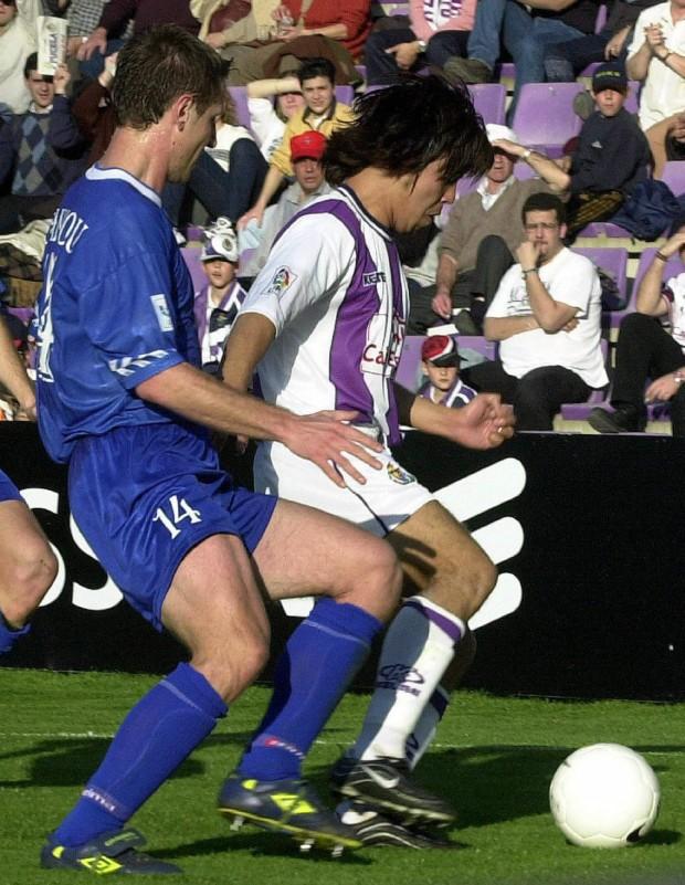 Jo, en su debut con el Valladolid ante el Oviedo (Archivo 20minutos).