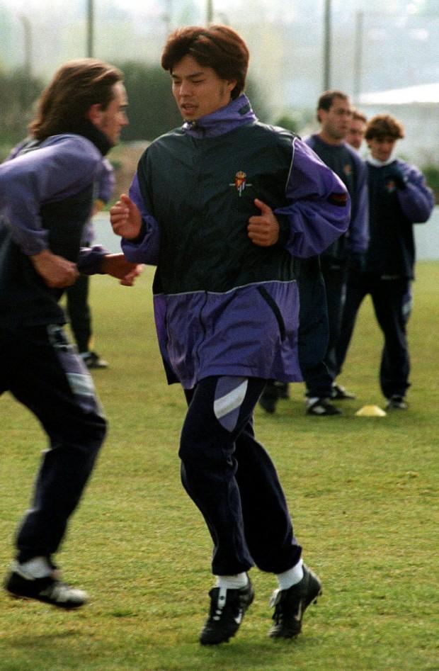Shoji Jo, entrenando con el Valladolid (Archivo 20minutos).