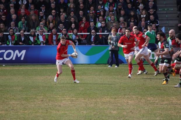 O'Gara, en acción en un partido de Munster (WIKIPEDIA).